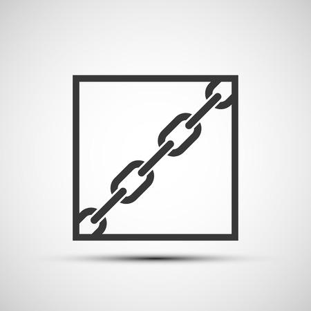 metal chain: Vector icons metal chain