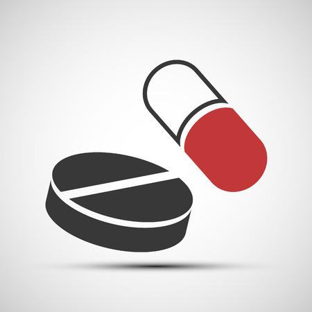 pilule: Iconos vectoriales de pastillas médicas