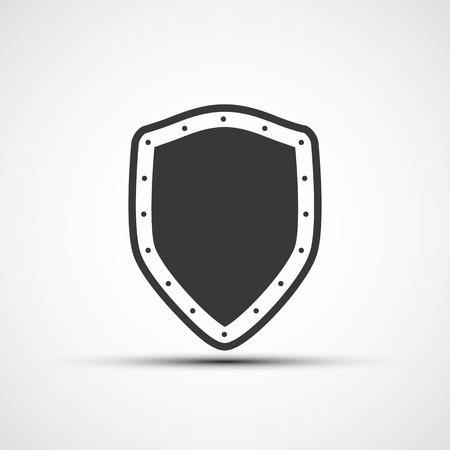 metal shield: Vector icon metal shield