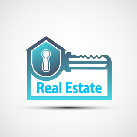 keyring: Vector icon of the real estate