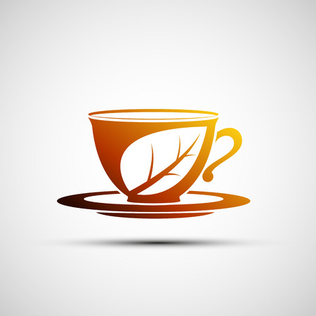 herb tea: Vector icon cup of tea