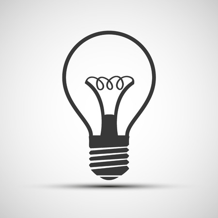 scriibble: Vector light bulb icon