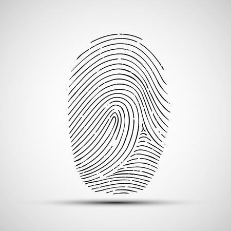 인간의 손가락 인쇄의 벡터 아이콘