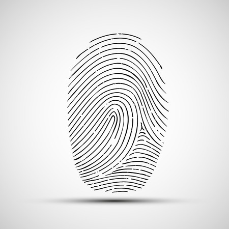 biometric: Vector icon of human finger print