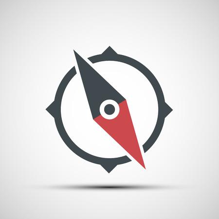 to navigation: Comp�s del vector icono