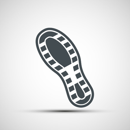 shoe print: Vector icons shoe print