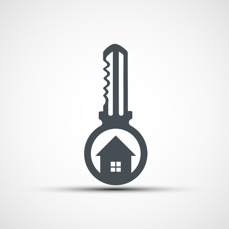 realestate: Vector icons key with a house Illustration