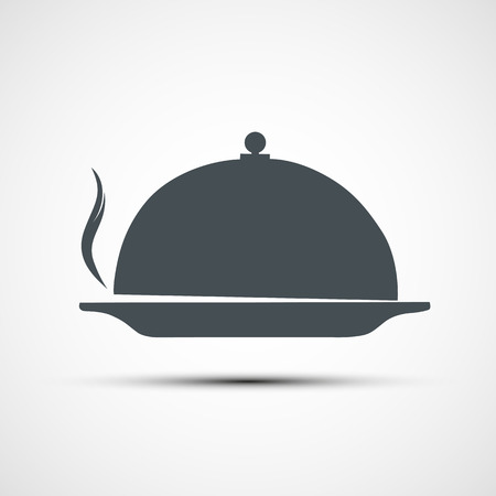 cloche: Vector icons dishes