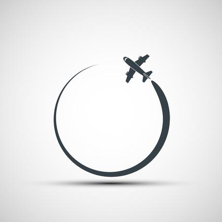 Vector icons aircraft
