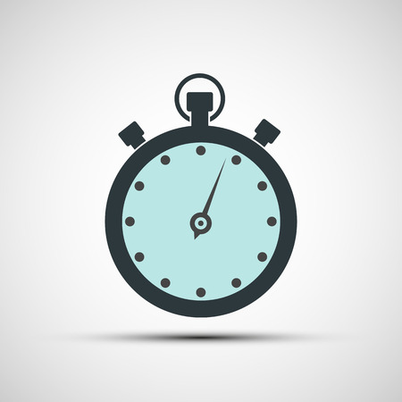 stop time: Vector icons of sports stopwatch Illustration