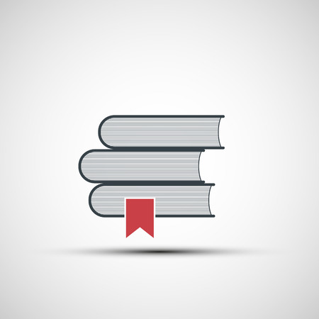 reading book: Vector icons stacks of books Illustration