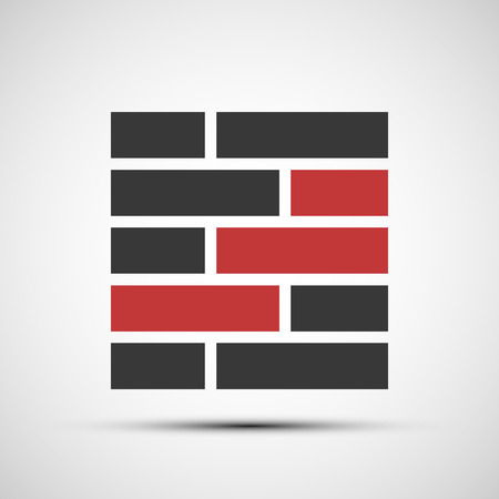 bricklayer: Vector icons brickwork