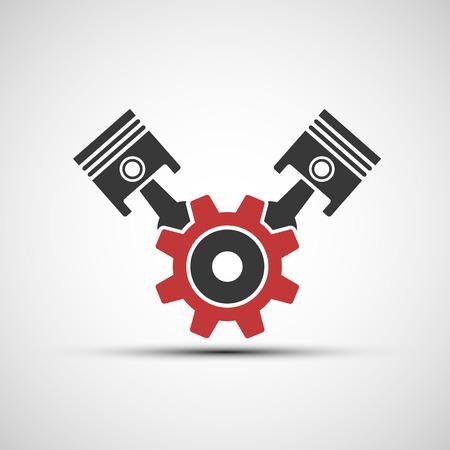 Vector icon of automotive engine Stock Vector - 36948488