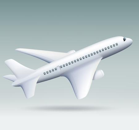 plane landing: Vector airplane