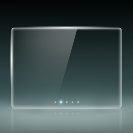flat screen monitor: Transparent screen for slide show