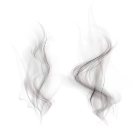 vector set of black smoke isolated on a white background Illustration