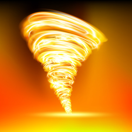 tornado que consiste en la llama roja Ilustración de vector