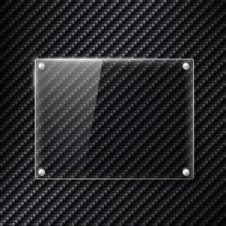 panelling: Glass signboard on the surface of carbon fiber
