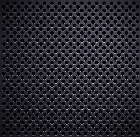 Matt gray plate with holes. Vector background Illustration