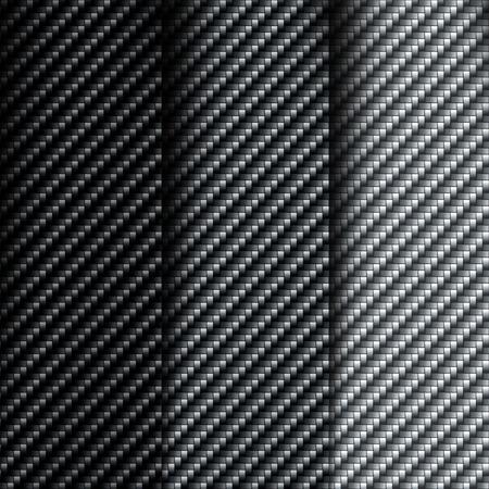 fibra: La trama della fibra di carbonio. Set di sfondi vettoriali Vettoriali