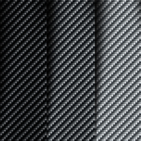 fibre: The texture of carbon fiber. Set of vector backgrounds