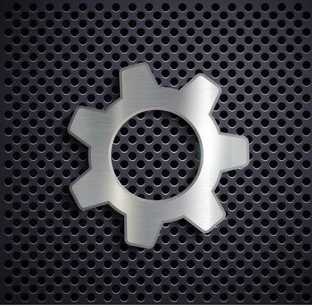 Industrial metal gear. Vector image. Vector