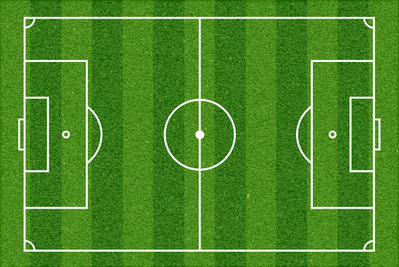 soccer coach: Football field. Top view. Vector image. Illustration