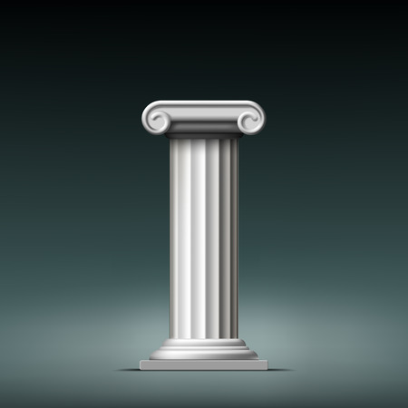 doric: Antique white column. Vector illustration. Illustration