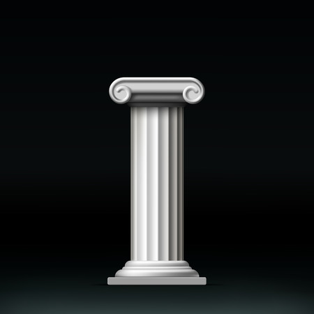 greek column: Antique white column. Vector illustration. Illustration