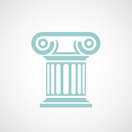 architectural styles:  marble columns. Vector image. Illustration