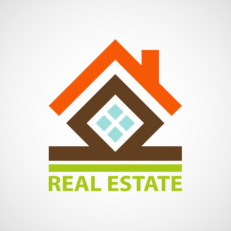 housing loan: icon real estate. Vector image.