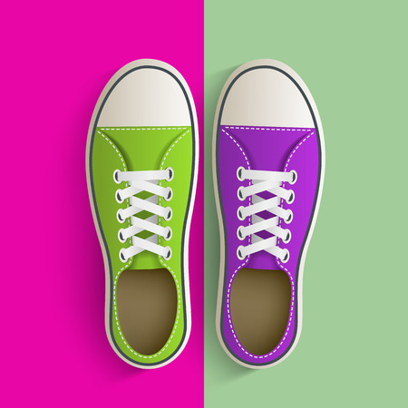 converse: Old vintage sneakers. Vector image. Illustration