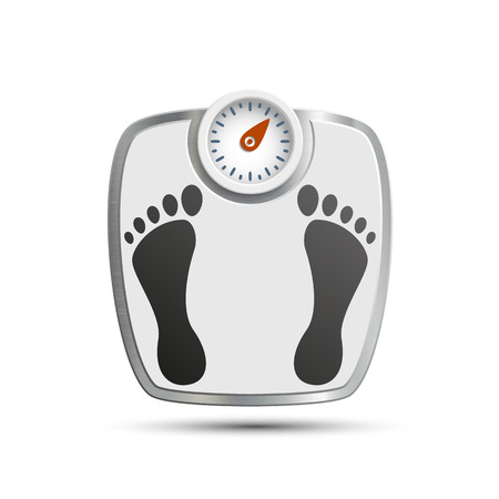 fatness: Scales for weighing. Vector image.
