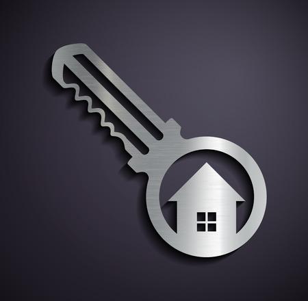 Logo Immobilien. Vektor-Bild.
