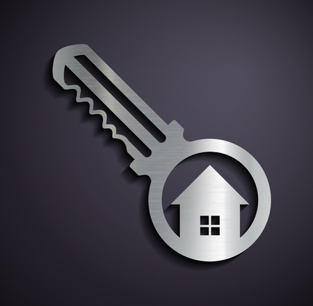 house logo: Logo real estate. Vector image. Illustration