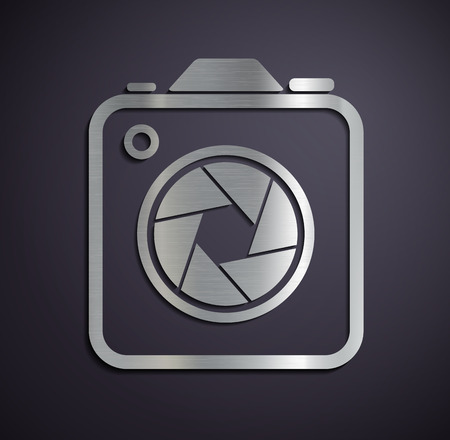 Logo of metal camera. Vector image. Vector