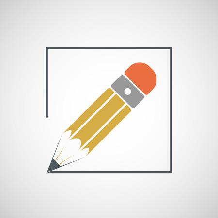 essay: icon drawing pencil. Vector image.