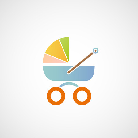 icon baby carriage. Vector image. Vector