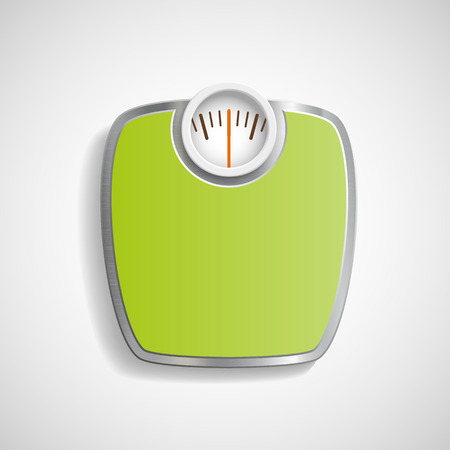 weight control: Scales for weighing. Vector image.