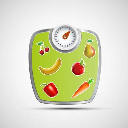 weighing scale: Scales for weighing. Vector image.