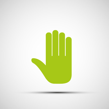 fertility emblem: green human hand. Vector image. Illustration