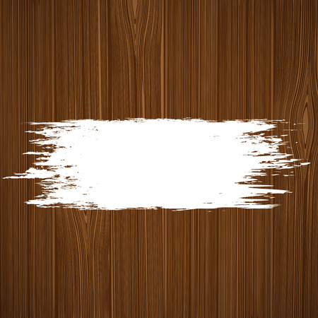 peinture blanche: Peinture blanche sur une surface en bois. Vector image. Illustration