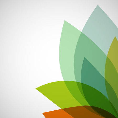 infirm: Abstract background of transparent leaves. Vector image.