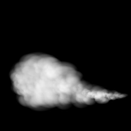 in the smoke: Humo gris sobre fondo negro. Vector imagen.