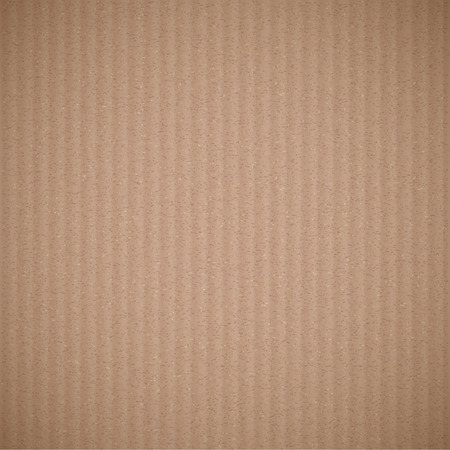 corrugated cardboard: Texture of brown corrugated cardboard. Vector background.