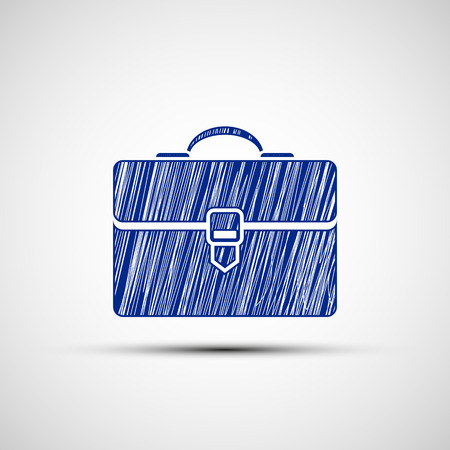 close icon: suitcase of strokes. Vector image.