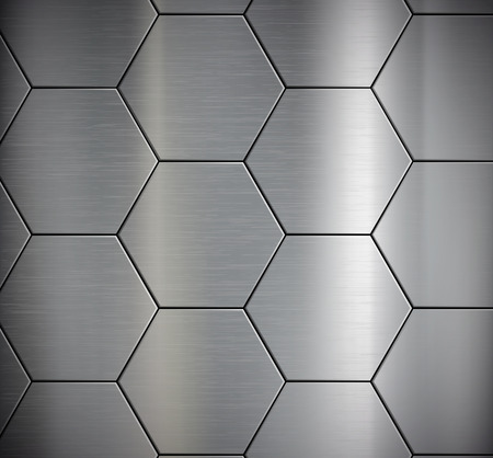 Background of the metal plates. Vector image.