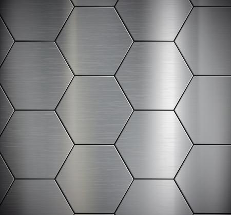 Hintergrund der Metallplatten. Vector image.