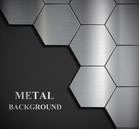 siderurgia: Antecedentes de las placas de metal. Vector imagen.