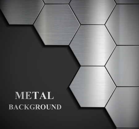 brushed aluminum: Background of the metal plates. Vector image.